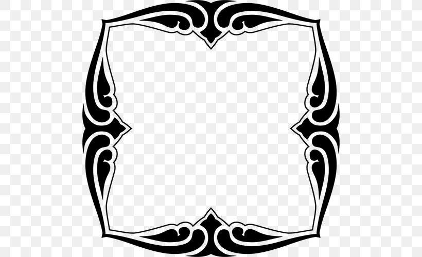 Clip Art Decorative Arts Decorative Borders Picture Frames Vector Graphics, PNG, 500x500px, Decorative Arts, Art, Art Deco Borders, Blackandwhite, Borders And Frames Download Free