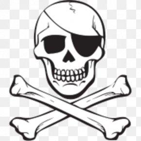 Skull - Skull And Crossbones Jolly Roger Piracy PNG