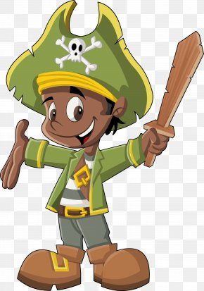 Green Cartoon Pirate - Piracy Drawing Cartoon Illustration PNG