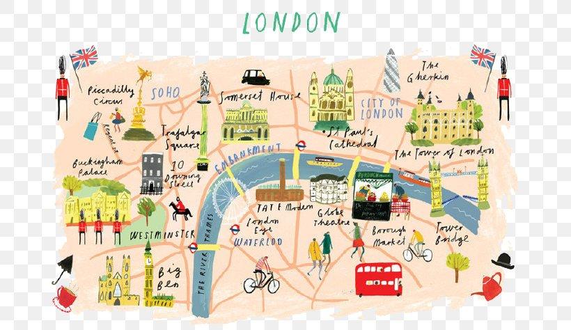 Download Map London.Illustrated London Map Edinburgh Illustration Png