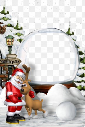 Christmas Border Background Template Template Download - Santa Claus Christmas Eve New Year PNG
