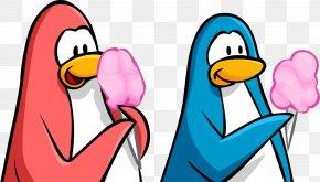 Penguins - Club Penguin Cotton Candy Eating Clip Art PNG