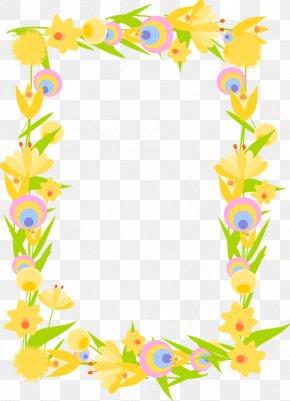 Flower Border - Paper Wedding Invitation Picture Frames Flower Clip Art PNG