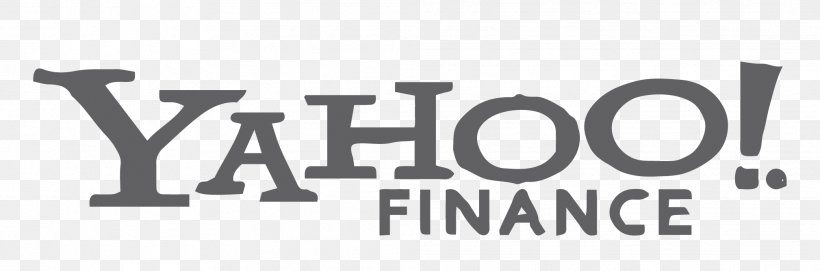 Yahoo Finance Logo News Png 2018x668px Yahoo Finance Advertising Black And White Brand Email Download Free