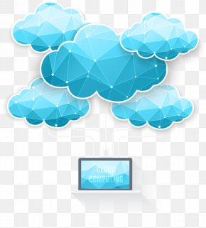 Vector Computer Cloud Computing Cloud Pattern Polygon - Cloud Computing Euclidean Vector PNG
