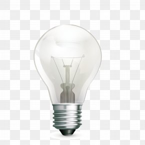 White Light Bulb - Incandescent Light Bulb Lamp Lighting PNG
