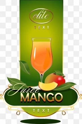 Mango Juice Label Vector Material Downloaded, - Orange Juice Frutti Di Bosco Mango PNG
