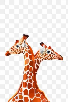 Hand-painted Giraffe - Northern Giraffe Okapi About Giraffes Geometry Illustration PNG