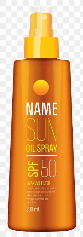Sun Oil Spray Clipart Picture - Sunscreen Lotion Lipstick Clip Art PNG