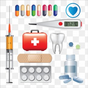 Syringe And Pills Image - Medicine Medical Equipment Surgical Instrument Tool PNG