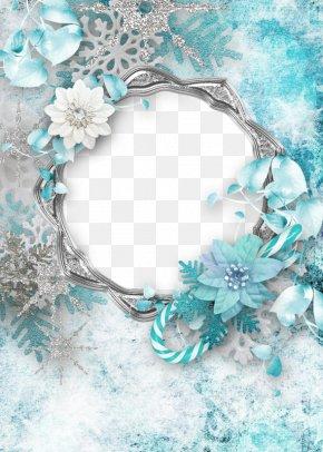 Flower Decoration Christmas Flower Border - Christmas Paper Picture Frame Clip Art PNG