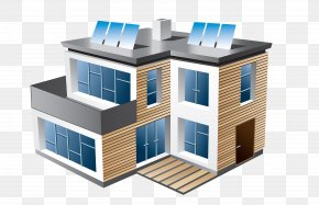 Building - House Modern Architecture Building Clip Art PNG