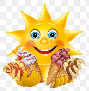 Ice Cream Design - Ice Cream Emoticon Smiley Emoji Clip Art PNG