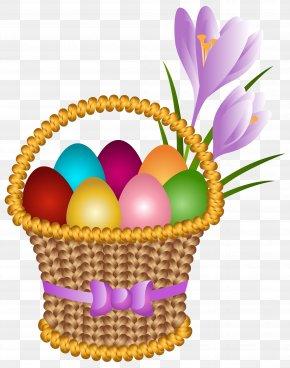 Easter Egg Basket Transparent Clip Art Image - Easter Bunny Egg In The Basket Easter Egg Clip Art PNG