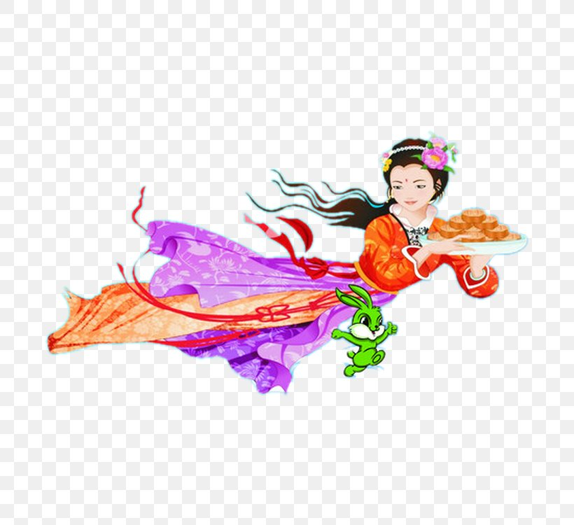 Mid-Autumn Festival Mooncake Chang'e, PNG, 750x750px, Mid Autumn Festival, Art, Autumn, Chang E, Clip Art Download Free