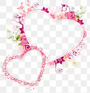 HEART FLOWER - Paper Picture Frames Heart Love Clip Art PNG