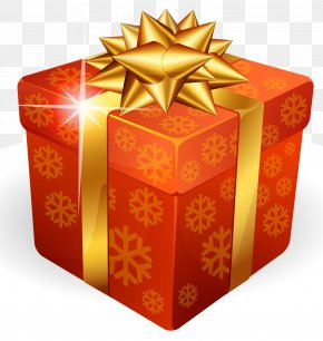 Gold Gift Box - Christmas Gift Box PNG