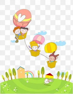 Kids Hot Air Balloon - Hot Air Balloon Clip Art PNG