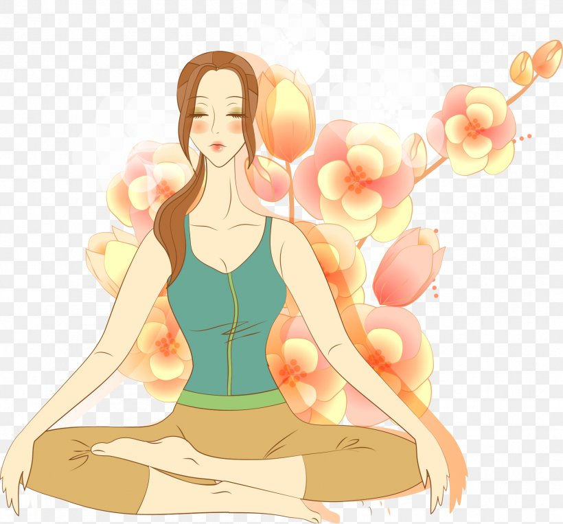 Yoga Meditation Lotus Position Drawing Illustration Png 1788x1665px Watercolor Cartoon Flower Frame Heart Download Free