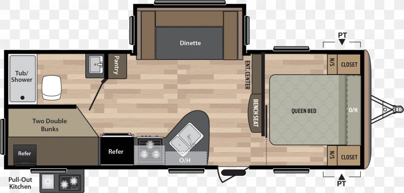 Semi Trailer Truck Floor Plan
