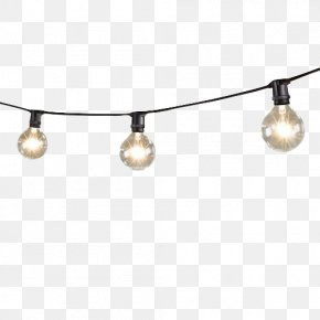 Mini String Lights With Globe Lamps - Lighting Incandescent Light Bulb LED Lamp String PNG