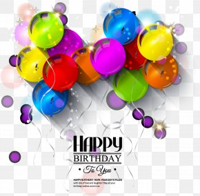Happy Birthday Theme - Birthday Greeting Card Balloon Illustration PNG