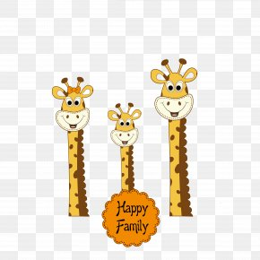 Giraffe - Giraffe Greeting Card Christmas Card Clip Art PNG