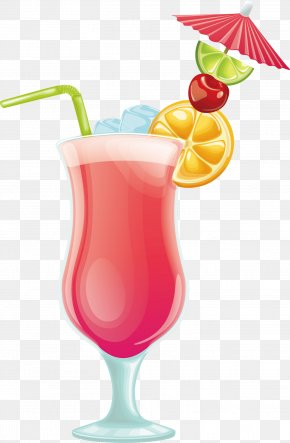 Pink Drink Vector - Cocktail Juice Drink PNG