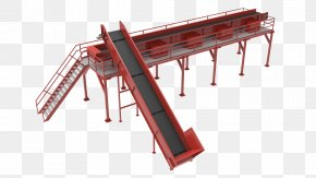Municipal Solid Waste - Conveyor System Machine Conveyor Belt Manufacturing Industry PNG