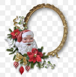 Santa Claus Cartoon Frames Modeling - Santa Claus Christmas Picture Frame PNG