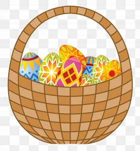 Easter Eggs And Basket Clipart - Easter Bunny Basket Clip Art PNG