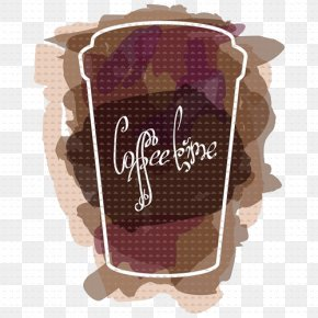 Cartoon Coffee - Coffee Cup Cafe Watercolor Painting PNG