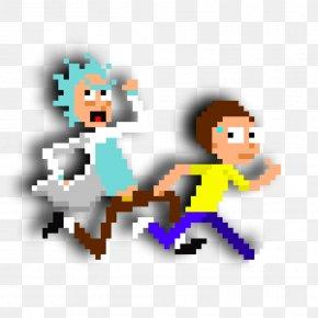 Pixel - Minecraft Rick Sanchez Morty Smith Pixel Art PNG