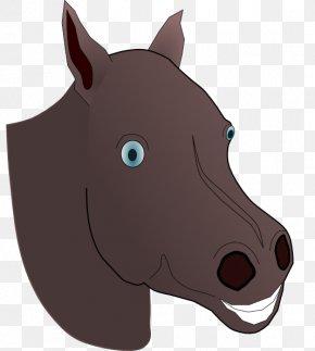 Horse Head Clipart - Mustang American Quarter Horse Stallion Clip Art PNG