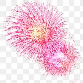 Fireworks - Pink Light Fireworks Red PNG