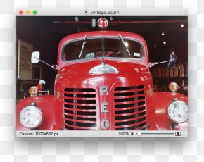 Retro Effect - Antique Car Truck Fire Engine Motor Vehicle PNG
