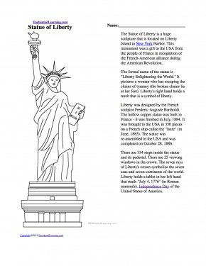 Coloring Book Page Of Statue Of Liberty - Statue Of Liberty The New Colossus Coloring Book Drawing PNG