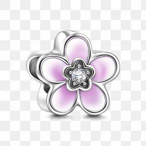 Peach Blossom - Earring Charm Bracelet Jewellery Silver PNG