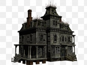 Halloween House Transparent - Ghost PNG