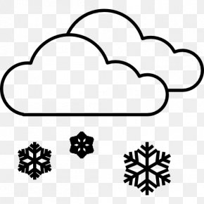 Cold Weather - Snowflake Cloud Rain And Snow Mixed Weather PNG