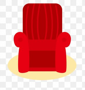 Red Armchair - Text Chair Red Illustration PNG