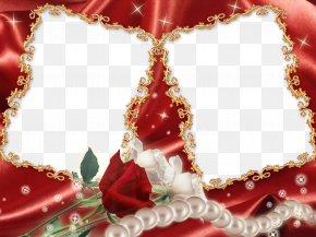 Red Flower Frame Transparent - Picture Frame PNG