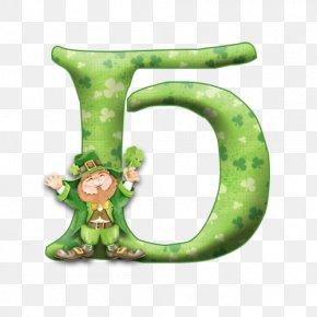 Saint Patrick's Day - Saint Patrick's Day Ireland Alphabet Letter Clip Art PNG