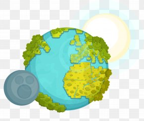 Vector Hand Painted Earth PNG