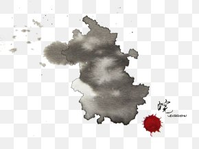 Anhui Province Ink Map - Gansu Beijing Warring States Period Provinces Of China Watercolor Painting PNG