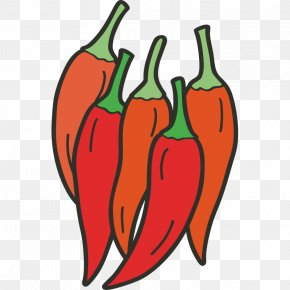 Hand Painted,Stick Figure,Fruits And Vegetables,vegetables,Fruits And Vegetables,Cartoon - Habanero Bell Pepper Tabasco Pepper Chili Pepper Tomato PNG