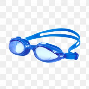 Swimming - Arena Sprint Swimming Goggles Blue PNG