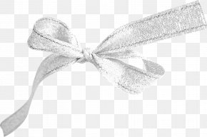 Silver Bow Cloth - Ribbon Textile Silver PNG
