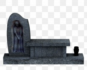 Stone Bench - Headstone Cemetery Memorial Bench Rock PNG