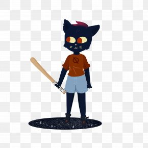 Camping In The Woods Night - Night In The Woods Drawing Fan Art Character Video Games PNG